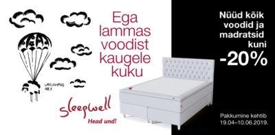 Sleepwell -20% kampaania madratsid voodid voodike.ee