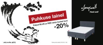 Sleepwell madratsid voodid suvekampaania -20% soodus