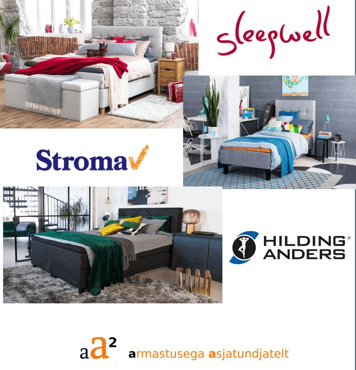 Sleepell madratsid voodid sleepwell kontinentaalvoodid Stroma madratsid aa2.ee